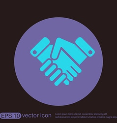 shaking hands icon handshake business and finance vector image