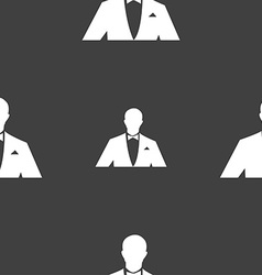Silhouette of man in business suit icon sign vector image vector image