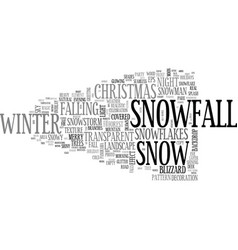Snowfall word cloud concept vector