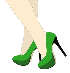 The beautiful legs of women vector image