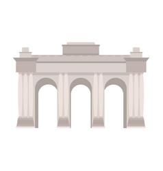 The belgian arch monumentthe dark belgian wolf vector