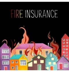 The big fire in the city vector image