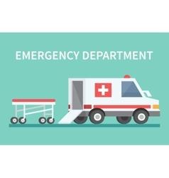 transport ambulance car icon vector image vector image