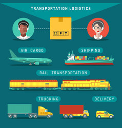 Transportation logistics concept vector
