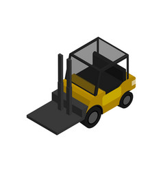 warehouse forklift isometric icon vector image