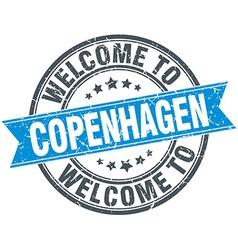 Welcome to copenhagen blue round vintage stamp vector