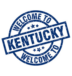 Welcome to kentucky blue stamp vector