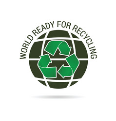 world ready for recycling icon vector image