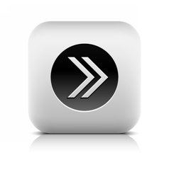 Icon with arrow sign in black circle vector