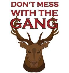 Gang of elk vector