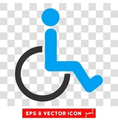 Disabled person eps icon vector