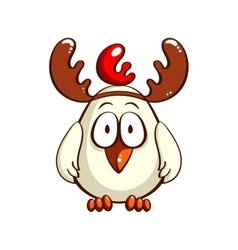 White chick with antlers vector
