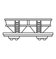 Freight railroad car icon outline style vector