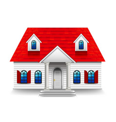 House with high roof isolated on white vector