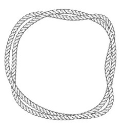 Twisted rope round frame - two interlaced ropes vector