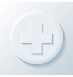 Medicine 3d paper icon vector