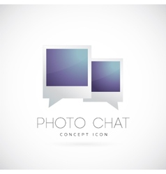 Photo chat concept symbol icon vector