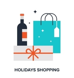 Holidays shopping vector