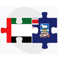 United arab emirates and falkland islands vector