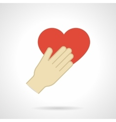 Flat design love proposal icon vector