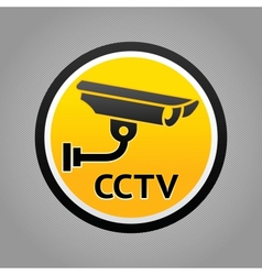 Surveillance camera warning pictogram vector