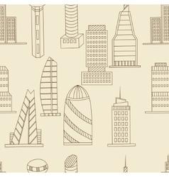 Tall buildings seamless retro vector