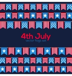 Fourth july usa independence day flags vector