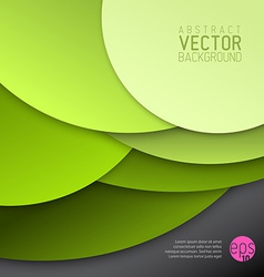Abstract background made from green circles vector