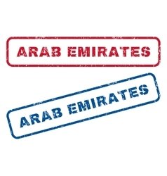 Arab Emirates Rubber Stamps vector image
