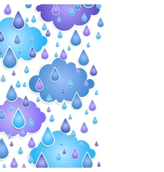background for text with drops of a rain vector image