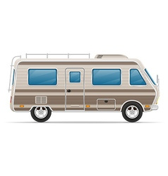 car mobile home 01 vector image