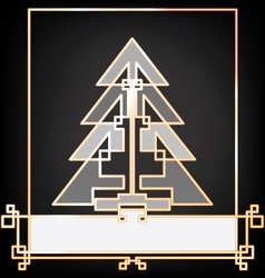 Christmas and new year background card design with vector