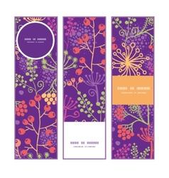 colorful garden plants vertical banners set vector image vector image