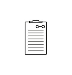 fitness list icon vector image