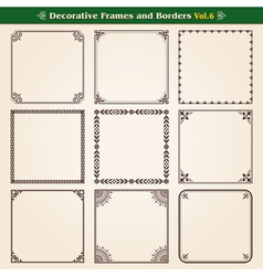 Frames and borders set 6 vector