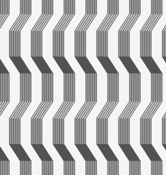 Gray ornament with warping stripes shaded vector