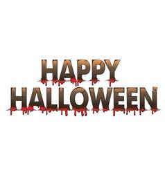Halloween letters vector image vector image