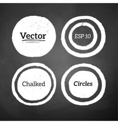 Hand drawn chalked circles vector