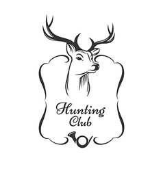 Hunting club badge vector image vector image