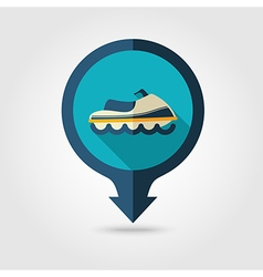 Jet ski pin map flat icon summer vacation vector