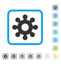 Mechanics gear framed icon vector