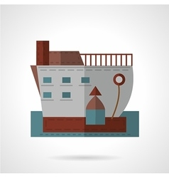 Passenger ship flat icon vector image