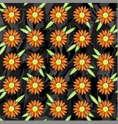 seamless pattern of orange daisies vector image vector image