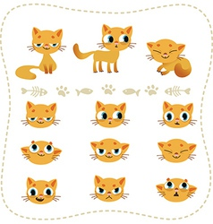 Set of cartoon cats vector image