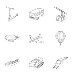 set of pictures about types of transport vector image vector image
