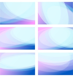Set wavy background vector image vector image
