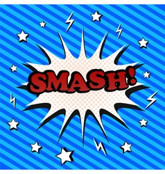 Smash comic cartoon vector