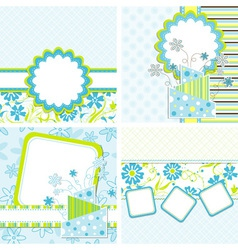 template cake greeting card vector image vector image