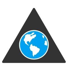 Terra Triangle Icon vector image vector image