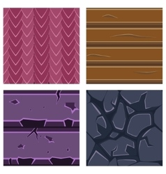 Textures for platformers icons set of stone vector
